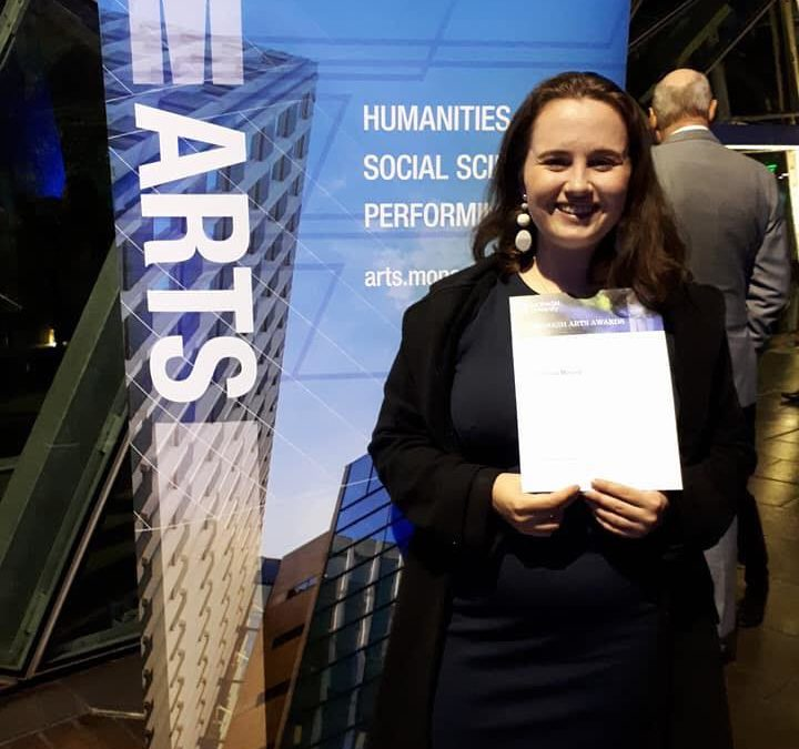 Ashling Morone awarded Monash University prize